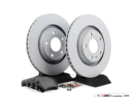 ES#2561958 - 8E0615601RKT - Rear Brake Service Kit - Featuring Zimmermann rotors and Textar pads - Assembled By ECS - Audi