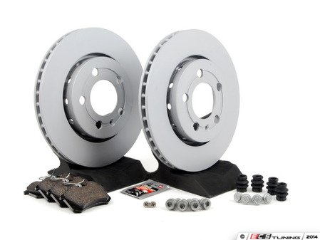 ES#1892013 - 1J0698064 - Rear Brake Service Kit (256x22) - Featuring Zimmerman Rotors and Vaico Pads - Assembled By ECS - Volkswagen