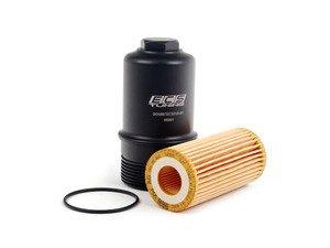 ES#2817033 - 06K115562KT3 - Black Billet aluminum Oil filter housing - with filter - Genuine filter and black anodized billet aluminum filter housing - Assembled By ECS - Audi Volkswagen