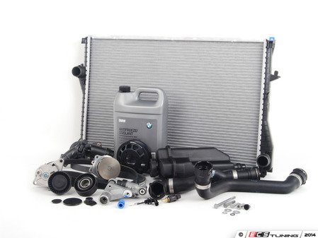 ES#2739246 - 11517527910KT10 - ECS Cooling System Refresh Kit - Level 3 - The ultimate cooling refresh kit - with aftermarket components, featuring an Aluminum Pulley, GEBA water pump, accessory belt service and radiator - Assembled By ECS - BMW