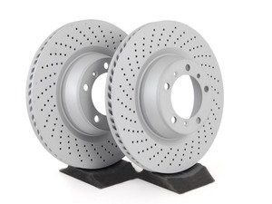 """ES#2748103 - 99735240502KT2 - Rear Brake Rotors - Pair 13.78"""" (350mm) - Directional rear axle fitment - Both left and right - Zimmermann - Porsche"""