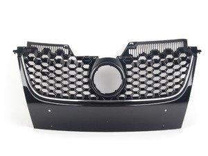 ES#2794981 - 009510BRP01 - Honeycomb Grille - Black With Chrome Strip - Black honeycomb with chrome strips and badge holder - Bremmen Parts - Volkswagen