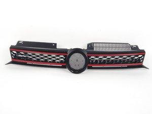 ES#2794982 - 009510BRP02 - Honeycomb Grille - With Red Strips - Black honeycomb with red strips and badge holder - Bremmen Parts - Volkswagen