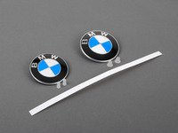 ES#2817070 - 51148132375KT2 - BMW Emblem / Roundel  With Grommets - Front And Rear - Tired of looking at your faded BMW badges? Replace them with the Genuine OEM Roundel, also includes roundel removal tool - Genuine BMW - BMW