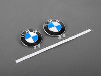 ES#2817062 - 51148132375KT1 - BMW Emblem / Roundel With Grommets - Front And Rear - Tired of looking at your faded BMW badges? Replace them with the Genuine OEM Roundel, also includes roundel removal tool - Genuine BMW - BMW