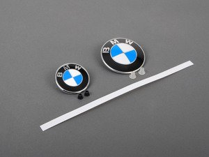 ES#2817073 - 51148132375KT3 - BMW Emblem / Roundel With Grommets - Front And Rear - Tired of looking at your faded BMW Badge's? Replace them with the Genuine OEM Roundel, also includes roundel removal tool - Genuine BMW - BMW