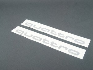 ES#3209969 - 4G0064317AY9B - 'Quattro' Script Door graphics Kit - Brilliant Black - Includes dimensional guides for proper installation and surface prep instructions - Genuine Volkswagen Audi - Audi