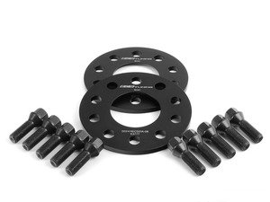 ES#2748281 - 6-ECS-018 - Wheel Spacer & Bolt Kit - 8mm With Black Conical Seat Bolts - Complete kit for two wheels, comes with everything you need to install spacers on your aftermarket wheels - ECS - Audi