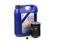 ES#2817104 - 2332kt -  Premium Oil Service Kit - With ECS Magnetic Drain Plug - Includes large Mann oil filter and Liqui-Moly High Tech 5w-40 oil - Assembled By ECS - Audi