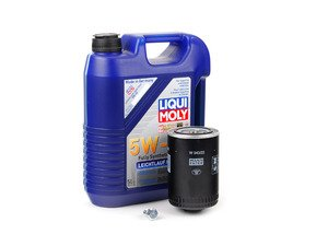 ES#2817105 - 2332KT1 -  Premium Oil Service Kit - Includes large Mann oil filter and Liqui-Moly High Tech 5w-40 oil - Assembled By ECS - Audi