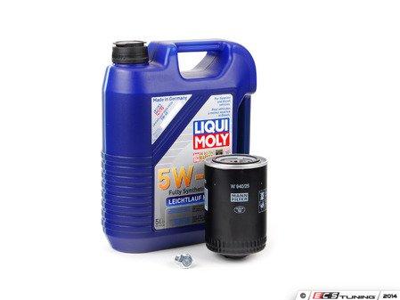 ES#2817105 - 2332KT1 -  Premium Oil Service Kit - Includes large Mann oil filter and Liqui-Moly High Tech 5w-40 oil - Assembled By ECS - Audi