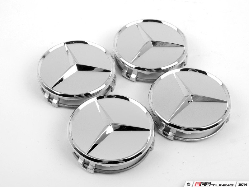 Genuine mercedes benz 66470206kt chrome mercedes star for Mercedes benz center cap