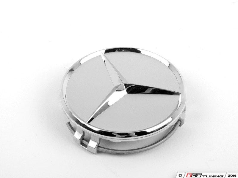 Genuine mercedes benz 66470206kt chrome mercedes star for Mercedes benz center caps