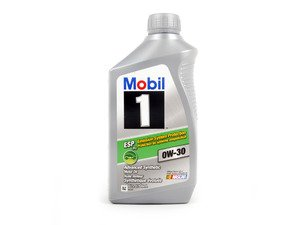 ES#3689801 - Q1090278 - Mobil 1 ESP Formula Engine Oil (0w-30) - 1 Quart - Full synthetic API SN oil approved by most Euro OEM's including VW/Audi 504.00/507.00, Porsche C30, and MB 229.31/229.51/229.52. - Mobil1 - Audi BMW Volkswagen Mercedes Benz MINI Porsche