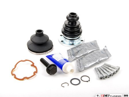 ES#2777898 - 443498201BKT7 - Rear CV Joint Refresh Kits - Complete refresh kit including hardware, boots, clamps, and grease - Assembled By ECS - Audi