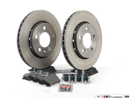 ES#2765360 - 1J0698064KT2 - Rear Brake Service Kit (256x22) - Featuring Brembo rotors and Pagid pads - Assembled By ECS - Volkswagen