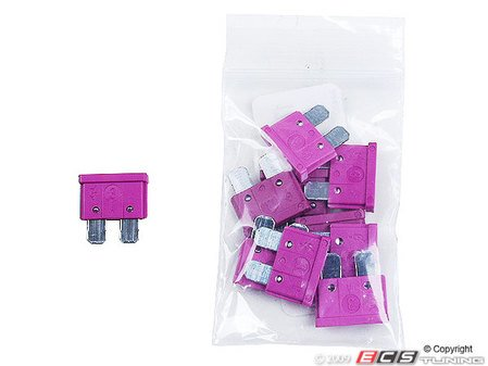 ES#7695 - at03-10 - Standard Blade Style Fuse-3 Amp - Pack of 10 ATO style fuses - Flosser - Audi BMW Volkswagen MINI Porsche