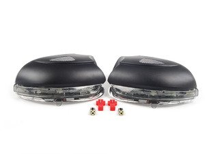 ES#2807615 - MRVWG6SKT - Sequential LED Mirror Housings - Light Smoked - With bulbs for LED puddle lighting - Assembled By ECS - Volkswagen