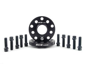 ES#2748259 - 35255571ECSWBKT -  ECS Wheel Spacer And Bolt Kit - 17.5mm With Black Ball Seat Bolts - Comes with everything you need to install spacers on two wheels - ECS - Audi Volkswagen