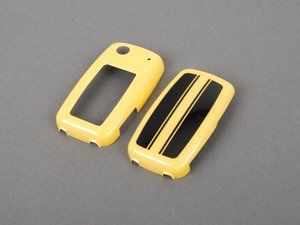 ES#2665405 - 5C0087015DAAX - GSR Key FOB Cover - Decorative two-piece custom fit key cover. Featuresheritage black over yellow race stripes. - Genuine Volkswagen Audi - Volkswagen