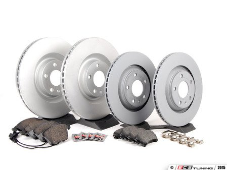 ES#2561962 - 8E0615301TKT1 - Front & Rear Economy Brake Service Kit - Featuring Meyle rotors and Textar brake pads - Assembled By ECS - Audi