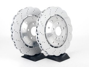 ES#2642853 - 8T0615301KT - Front Brake Rotors - Pair (365x34) - Restore stopping power with new 'wave' style rotors - Genuine Volkswagen Audi - Audi