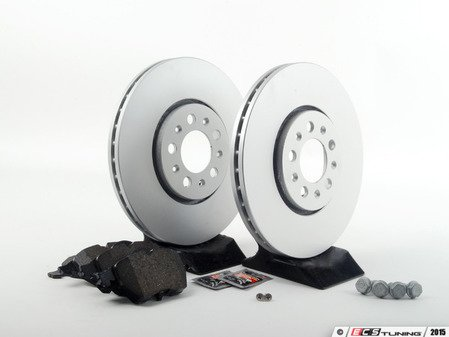 ES#2763178 - 1J0698451KT1 - Front Brake Service Kit (288x25) - Featuring Meyle rotors and Vaico pads - Assembled By ECS - Volkswagen