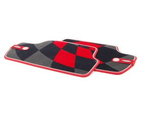 ES#2715080 - 51472354179 - Rear Carpet Factory Floor Mats Set JCW Pro - Priced As Set  - Replace or upgrade to factory MINI mats - Genuine MINI - MINI