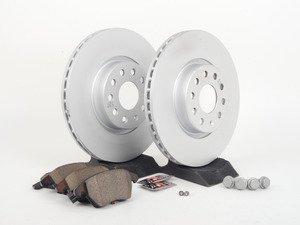 ES#2762488 - 3C0698151DKT - Front Brake Service Kit (312x25) - Featuring genuine service parts - Genuine Volkswagen Audi - Volkswagen