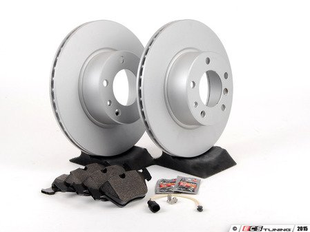 ES#2739104 - 40406125OEKT - Front Brake Service Kit - Featuring Meyle Coated Rotors and Vaico pads - Assembled By ECS - BMW