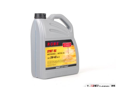 ES#2808531 - 21063-538-03 - HighTec Synt RS Engine Oil (5w-40) - 5 Liter - High performance engine oil for gasoline or diesel engines offering extended drain interval potential - ROWE - Audi BMW Volkswagen Mercedes Benz MINI