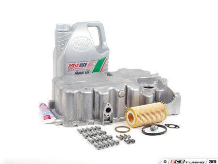 ES#2602453 - 06F103601LKT - Oil Pan Replacement Kit - Everything required to replace your leaking pan, including the oil change - Assembled By ECS - Audi
