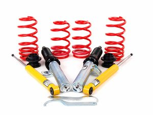 """ES#9969 - 54735 - Street Performance Coilover Kit - Unrivaled comfort and performance. Average lowering of 1.2""""-2.2""""F 1.0""""-2.3""""R - H&R - Volkswagen"""