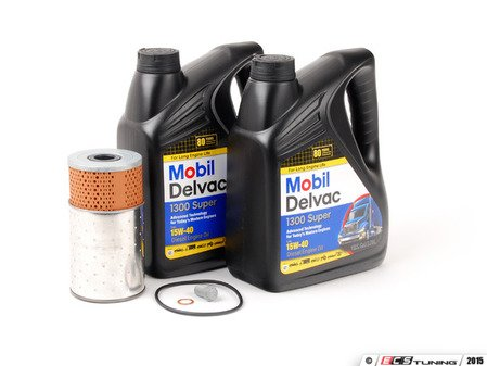 ES#2777910 - 6011800109KT3 - Engine Oil Service Kit - With 15W-40 Mobil Delvac Oil - Everything you need to perform an engine oil service - Assembled By ECS - Mercedes Benz