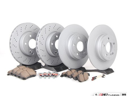 ES#2762494 - 2044212812KT5 - Front & Rear Brake Service Kit - Featuring Zimmermann Rotors And Akebono-Euro Ceramic Pads - Assembled By ECS - Mercedes Benz