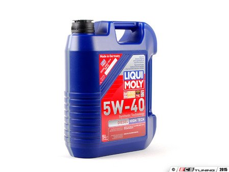 ES#258727 - 2022 - Diesel High Tech Engine Oil (5w-40) - 5 Liter - A semi-synthetic oil specially developed for vehicles with pumped-jet injection systems - Liqui-Moly - Audi Volkswagen