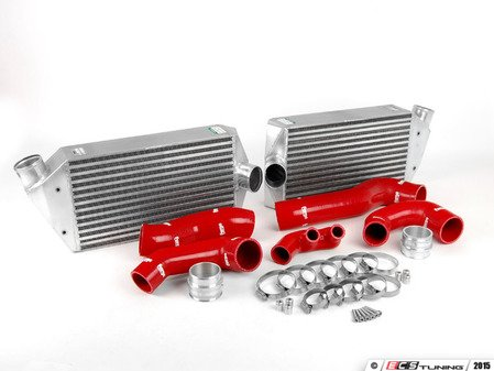 ES#2535580 - FMINT996RED - Intercooler Upgrade Kit With Red Silicone Hoses - Cooler charge air equals bigger horsepower - Forge - Porsche