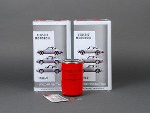 ES#2739146 - 93010776401KT9 - Air-Cooled 911 Oil Change Kit 10w-60 - Featuring Genuine Purolator Oil Filter and Genuine 10w-60 Mineral Oil - Genuine Porsche - Porsche