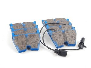 ES#2620384 - DP51513NDX - Front BlueStuff NDX Performance Brake Pad Set - Intermediate grade trackday pads for aggressive street driving and track use. - EBC - Audi