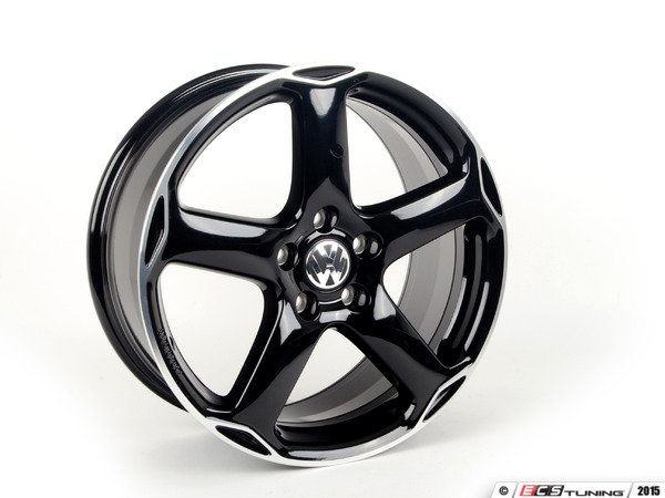 "ES#253181 - 1K0071498AX1-4 - 18"" Karthoum Wheel - Set Of Four - 18x8 ET50 5x112 alloys in black - Genuine Volkswagen Audi - Volkswagen"