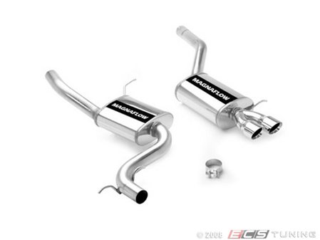 """ES#1892694 - 16693 - 2.5"""" Cat-Back Exhaust - Stainless steel exhaust with dual 3"""" polished stainless tips - Magnaflow - Volkswagen"""
