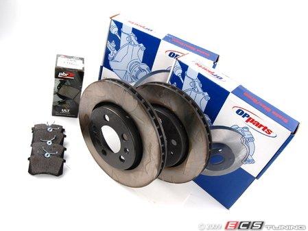 ES#258433 - 1J0698071 - ECS Rear Brake Service Kit - Includes OP Parts Rotors and PBR Ceramic Pads - Assembled By ECS -