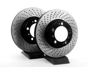 """ES#2586733 - 99635140501OPKT - Front Brake Rotors - Pair 12.51"""" (318mm) - Directional front axle fitment - Both left and right - OP Parts - Porsche"""