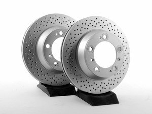 """ES#2770728 - 99635240104KT1 - Rear Brake Rotors - Pair 11.77"""" (299mm) - Rear axle fitment - Both left and right - Meyle - Porsche"""