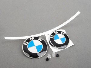 ES#2817074 - 51148132375KT4 - BMW Emblem / Roundel  With Grommets - Front And Rear - Tired of looking at your faded BMW badges? Replace them with the Genuine OEM Roundel, also includes roundel removal tool - Genuine BMW - BMW