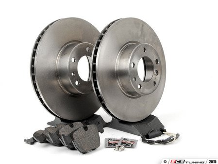 ES#2588663 - 34116757746KT3 - Front Brake Service Kit - Featuring Brembo brake rotors and Pagid pads - Assembled By ECS - BMW