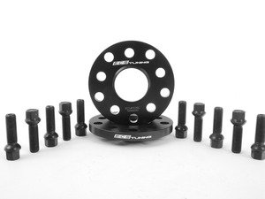 ES#2748255 - ECS#1076ECSWBKT -  ECS Wheel Spacer And Bolt Kit - 12.5mm With Black Ball Seat Bolts - Comes with everything you need to install spacers on two wheels - ECS - Audi Volkswagen