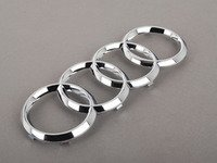 ES#2165168 - 4H0853605B2ZZ - Audi Rings Badge - Chrome - Located on the radiator grille - Genuine Volkswagen Audi - Audi