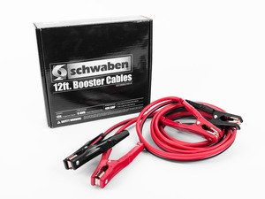 ES#2770108 - 007269SCH01 - 12 Ft 6 Gauge Booster Cables - Don't be left stranded with a dead battery. Keep a set of quality Schwaben Booster cables in you trunk for that unexpected emergency. - Schwaben - Audi BMW Volkswagen Mercedes Benz MINI Porsche