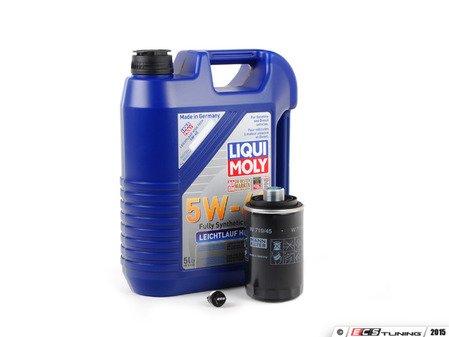 ES#3143344 - 06J115403CKT7 -  premium Oil Service Kit - With ECS Magnetic Drain Plug - Includes HENGST oil filter and Liqui-Moly High Tech 5w-40 oil - Assembled By ECS - Audi